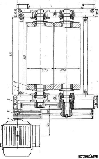 Привод вальцовки 0ПТ-1200А