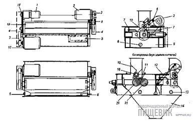 Конструктивное устройство измельчителей КР