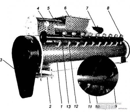 Смеситель (кондиционер) для подготовки рассыпных комбикормов к гранулированию
