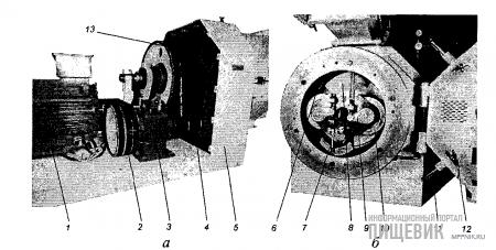 Главная передача (а) и прессующая секция (6) пресса-гранулятора «К-БЕЛТ»