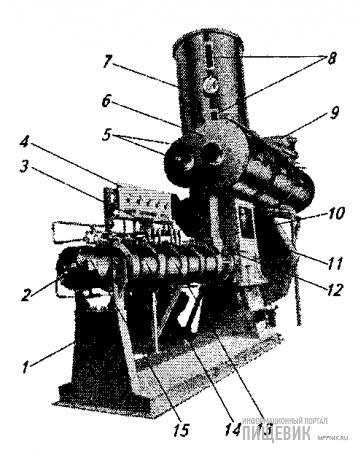 Одношнековый пресс-экструдер фирмы «Венгер» модели Х-235