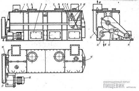 Технологическая схема смесителя А9-БСГ-3