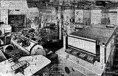 Участок для производства шоколадных фигур с начинками, оборудованный полуавтоматом модели «Гидро-18» фирмы «Кольманн»