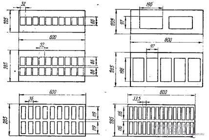 Размещение изделий в формах для автоматов модели «Кавемиль-крем 600/205» и «Кавемиль-крем 600/285»