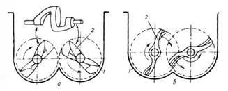 Схема роторного смесителя с двумя рабочими органами