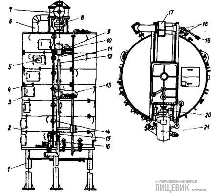 Жаровня маслоотжимного агрегата РЗ-МОА