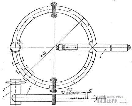 Устройство для мойки внутренней поверхности вертикальных танков оросительного действия