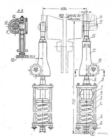 Механизм настройки параллельности вальцов станка ЗС
