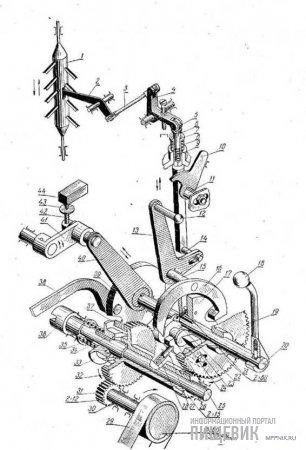 Кинематическая схема механического автомата вальцового станка ЗМ