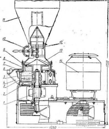 Машина ЗВШ для шлифования крупы