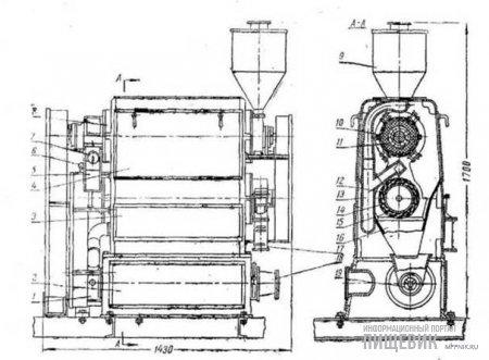 Машина БШП для шлифования и полирования крупы