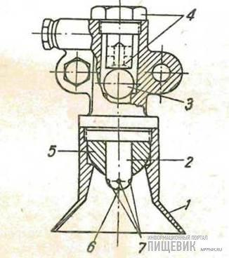 Разливочная головка вакуумнаполнителя Кифера