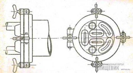 Передняя крышка секции вакуумподогревателя