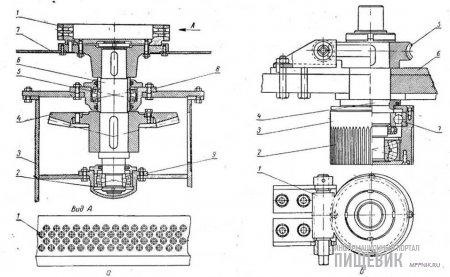 Матрица с приводным механизмом пресса ДПА (а) и прессующий валок пресса ДГ1А (б)