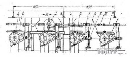 Приводной механизм дозаторов комбикормового агрегата МУКЗ-50